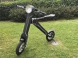 eByke Folding Electric Bike/Scooter 15 MPH Max Speed 22-25 Miles Range, E15 | Electric Scooter/Electric Bike/E-Bike (Adults & Kids)