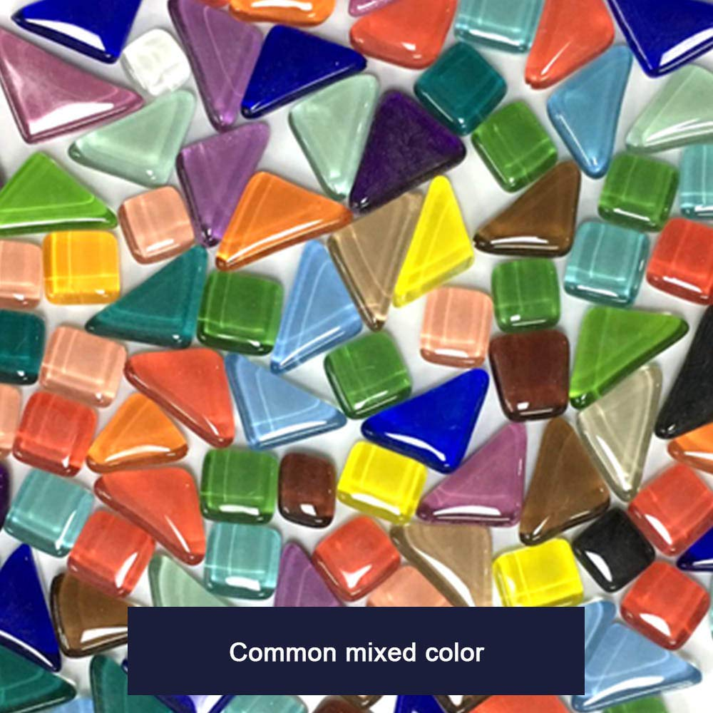 Wenje Mixed Color Irregular Shape Glass Mosaic Tiles Pieces for Home Decoration DIY Craft Supply Handmade Project by Wenje