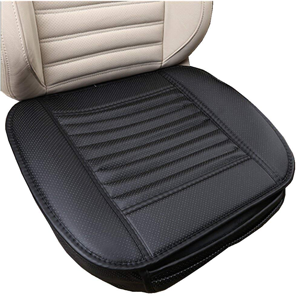 Breathable and Comfortable Support Auto Office Chair Seat Cover 19.7 W HMMJ Luxury Bamboo Charcoal Car Seat Cushion Grey x 20.5 Car Seat Pad in PU Leather L