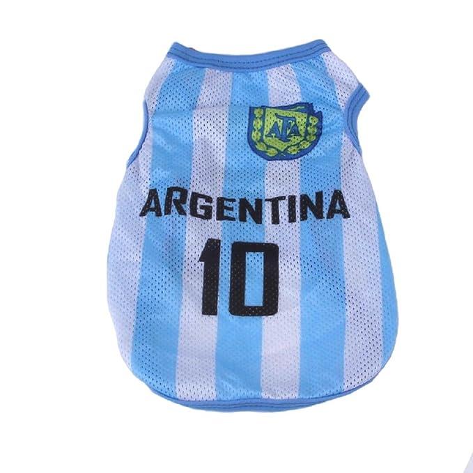 KayMayn - Camiseta de fútbol con Licencia para Perro, Disponible en 3 tamaños, para Perros, Ropa de fútbol, Disfraz de Perros, Copa Nacional de fútbol, ...