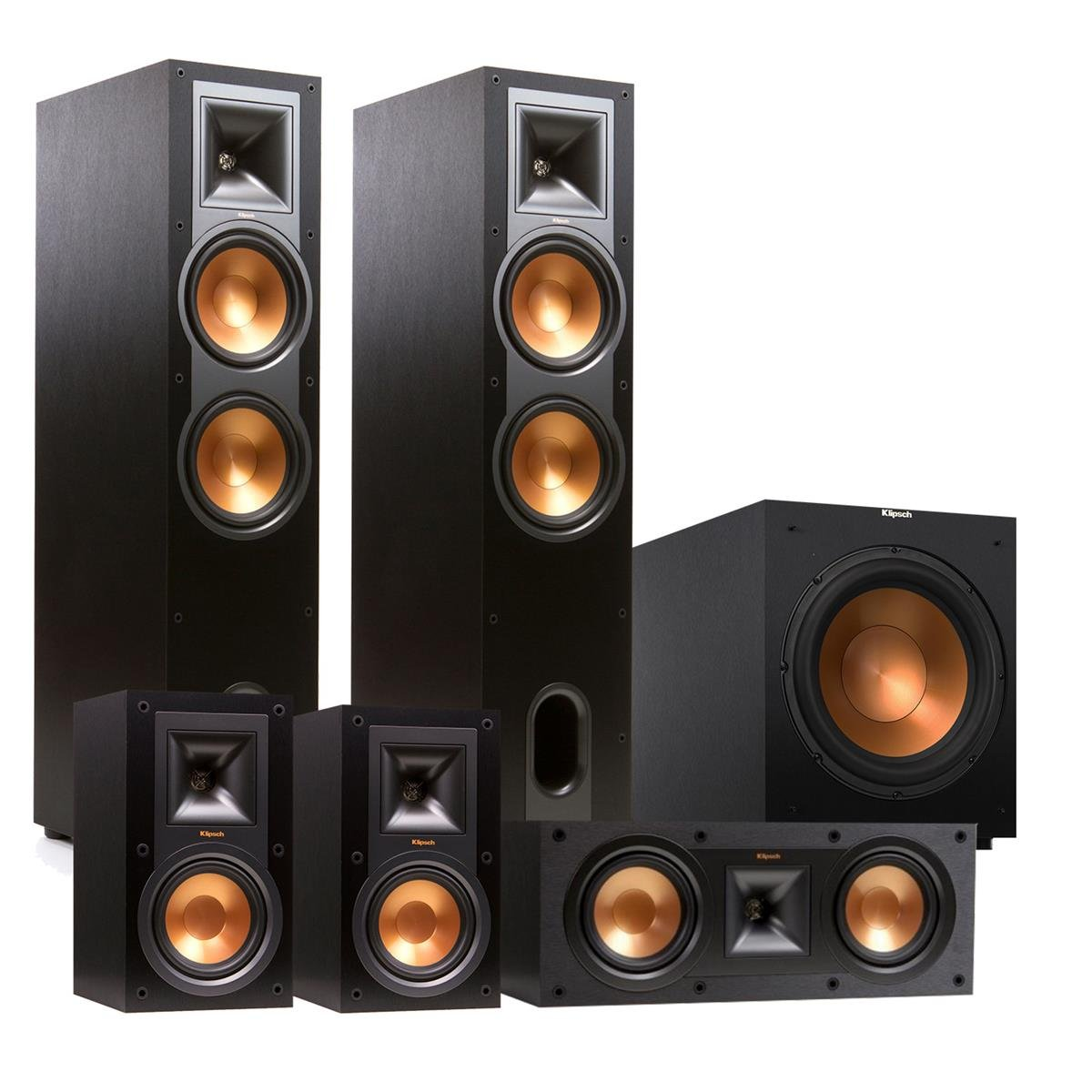 Klipsch R-28F Reference 5.1 Channel Home Theater Speaker Package