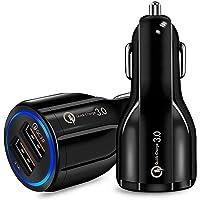 ULTRICS Cargador Movil Coche, 30W/ 5A Carga Rápida Doble USB Car Charger, QC 3.0 Adaptador Automóvil Compatible con…