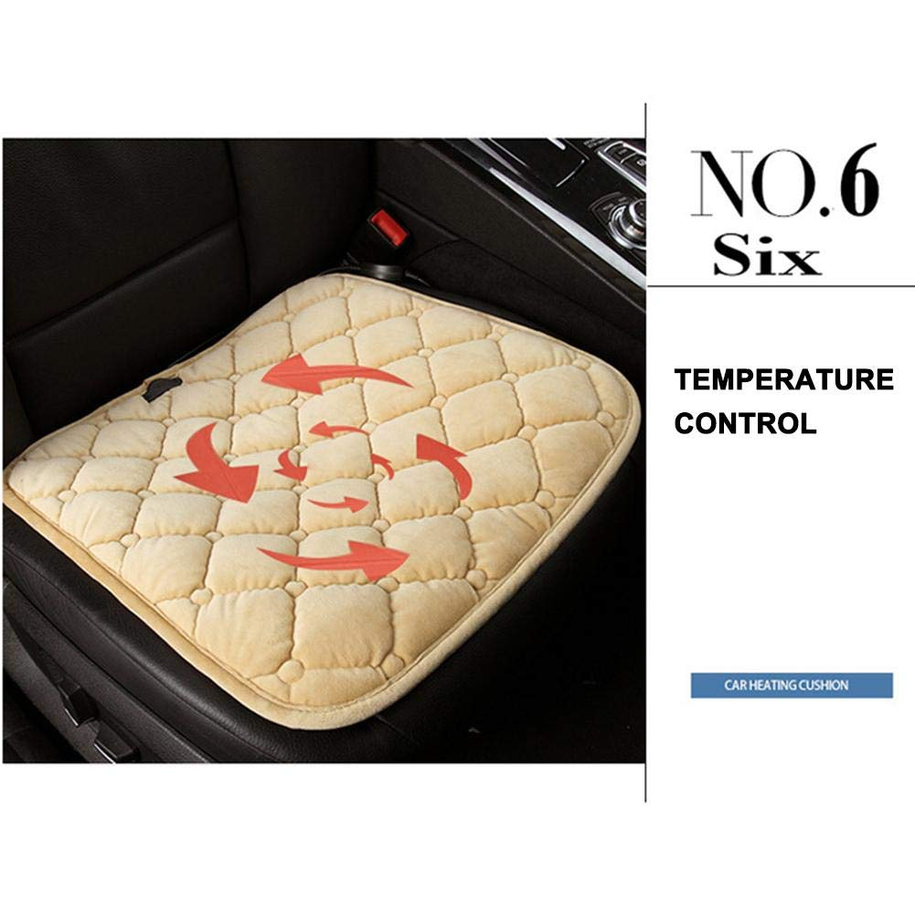 Welltobuy Heated Car Seat 12V Car Seat Hot Heater Heated Pad Heated Car Seat Covers Cushion Winter Warmer Cover