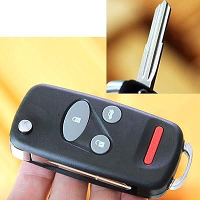 4 Buttons Uncut Flip Folding Remote Key Shell Case For 1998 1999 2000 2001 Honda CRV S2000 Insight Blade2.3: Automotive