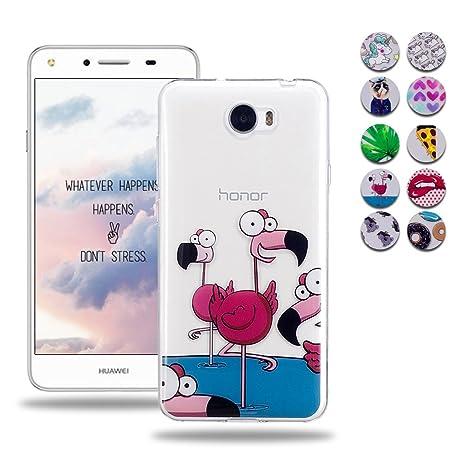 6c66ed677 Wanxideng Funda Suave Transparente para Huawei Y5 II/Y5 2: Amazon.es:  Electrónica