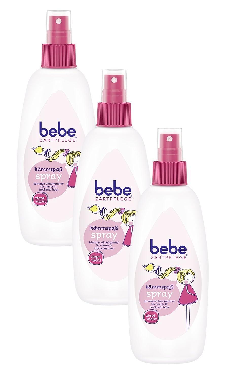 bebe Zartpflege Kämmspaß Shampoo & Spülung/2 in 1 Shampoo & Spülung/pH-neutrales Shampoo & Spülung/3 x 300ml 87717
