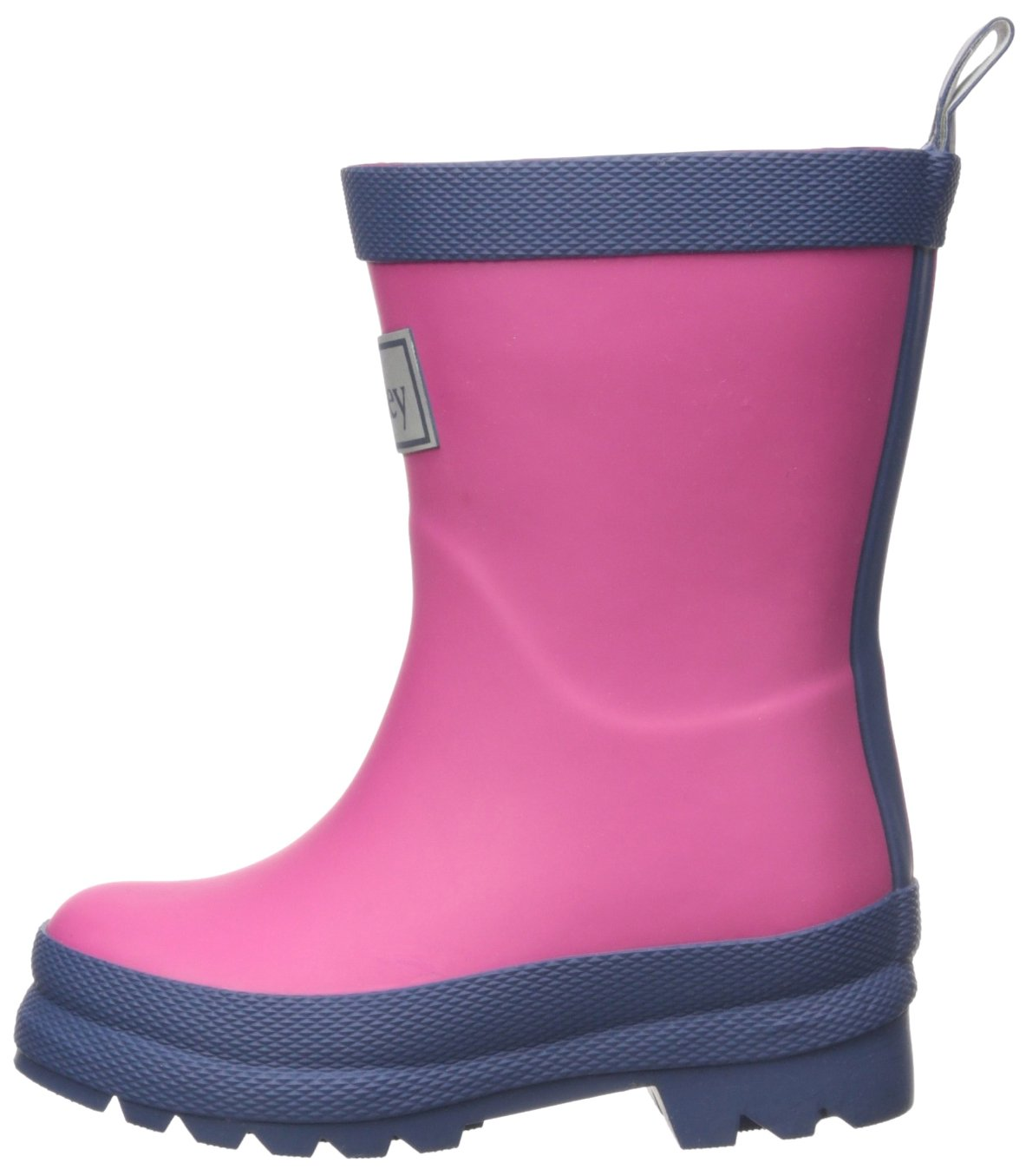Hatley Kids' Classic Boots Girls Rain Accessory, Fuchsia Navy, 7 M US Toddler by Hatley (Image #5)
