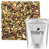 Tealyra – Peach Mint Julep – Chamomile Nettle Hibiscus – Herbal and Fruity Loose Leaf Tea – Calming & Relaxing – Hot and Iced Tea – Caffeine-Free – 110g (4-ounce) For Sale