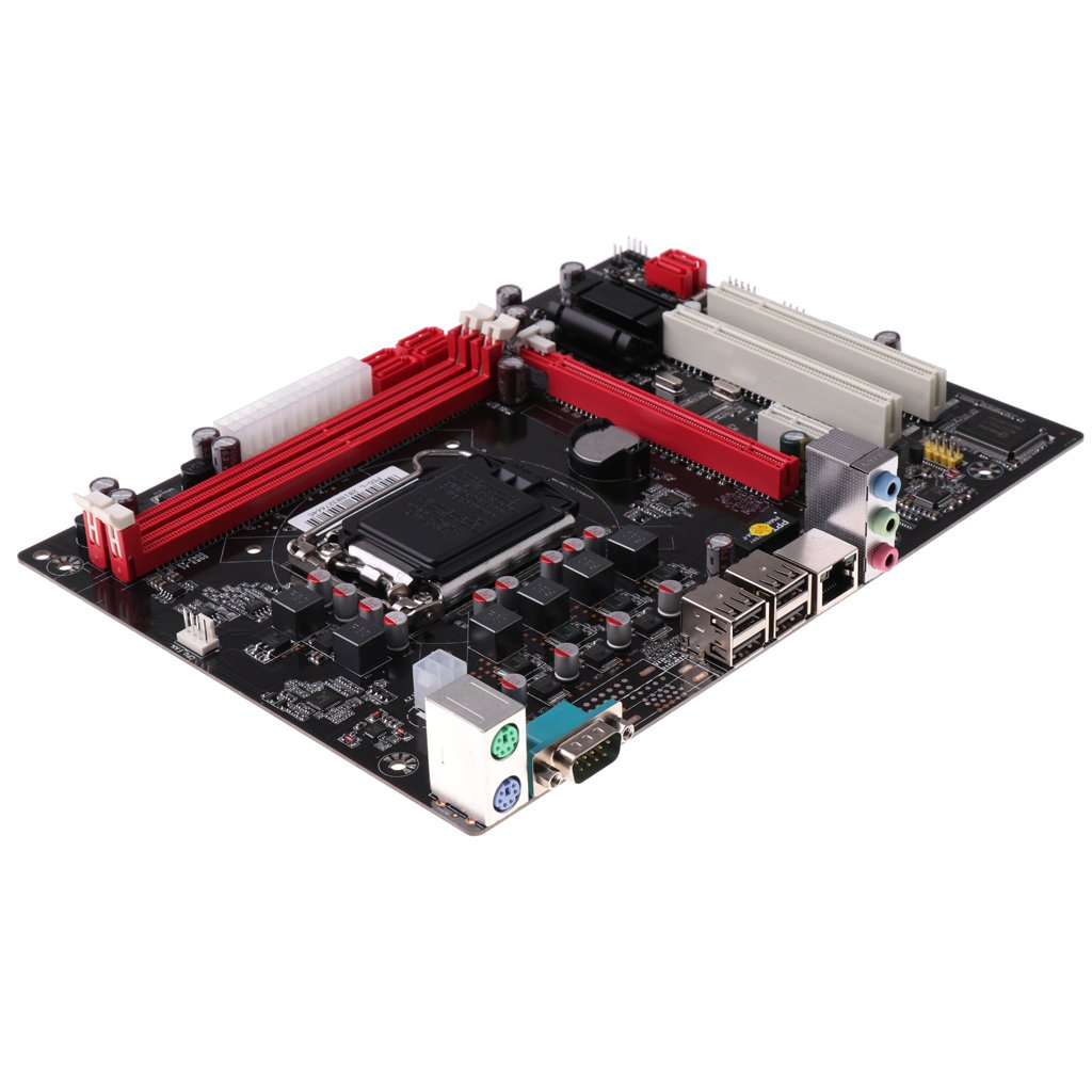 MagiDeal Desktop Motherboard DDR3 PCI-E 16X/1 X 1000MB/S Network Mianboard P55 A1156