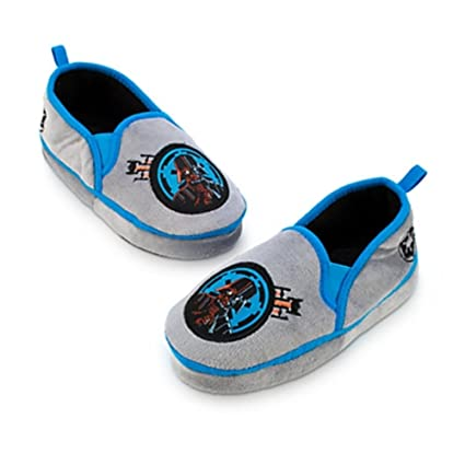 14117c014924be Image Unavailable. Image not available for. Color  Disney Store Little Boys  Star Wars Darth Vader Plush Slippers 9 10 Grey