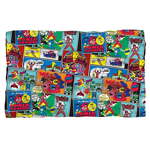 Pattern -- Power Rangers -- Fleece Throw Blanket (36