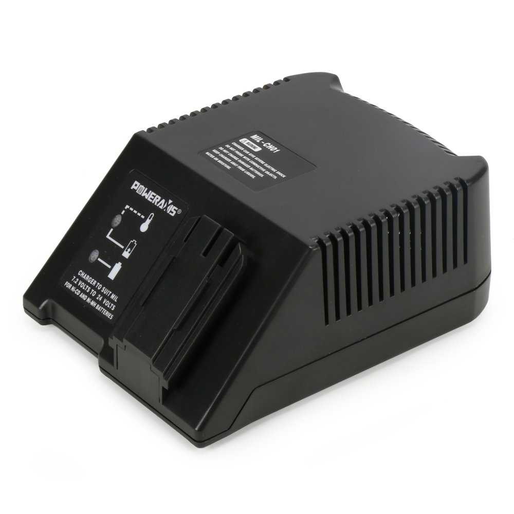 POWERAXIS AEG PAS12PP BS12X BBS14X Milwaukee Atlas Copco Universal Charger for 7.2V 24V Ni-CD Ni-MH Battery