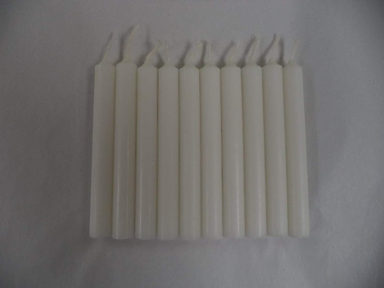 Set of 10 4 Mini Ritual Chime / Spell Candles: White Ritual Magick