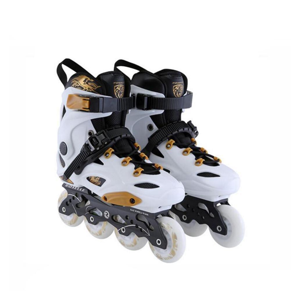 ZZY Einreihig Rollschuhe Adult Flash Skates Zweireihig Verstellbare Größe Roller Skates Quad Stiefel Skating Frauen und Männer