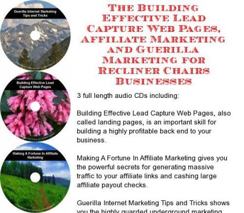 Audio Recliner Chair - The Guerilla Marketing, Building Effective Lead Capture Web Pages, Affiliate Marketing for Recliner Chairs Businesses