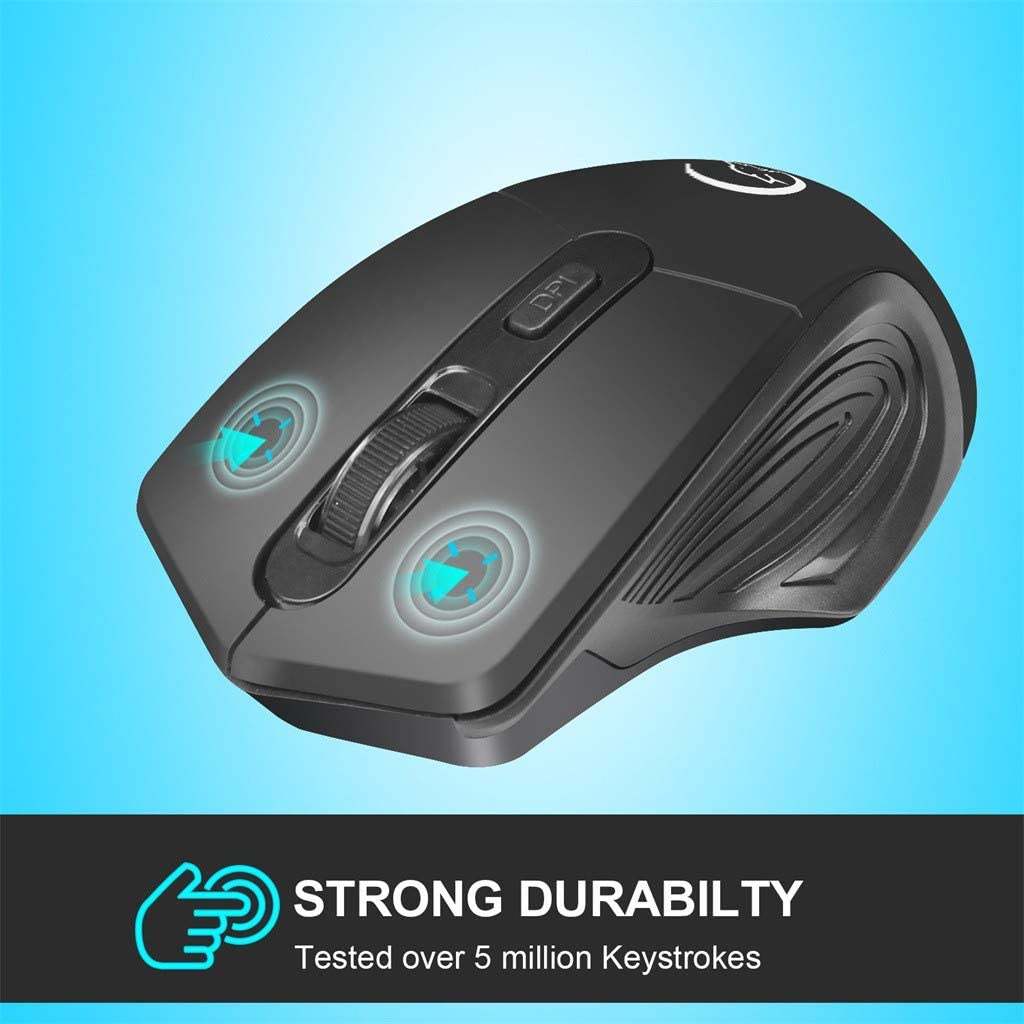 sakd Wireless Mouse Optical 2.4G Wireless Gaming Mute Mice 2400DPI Rechargeable Mice for Laptop Notebook Tablets Portable Mini