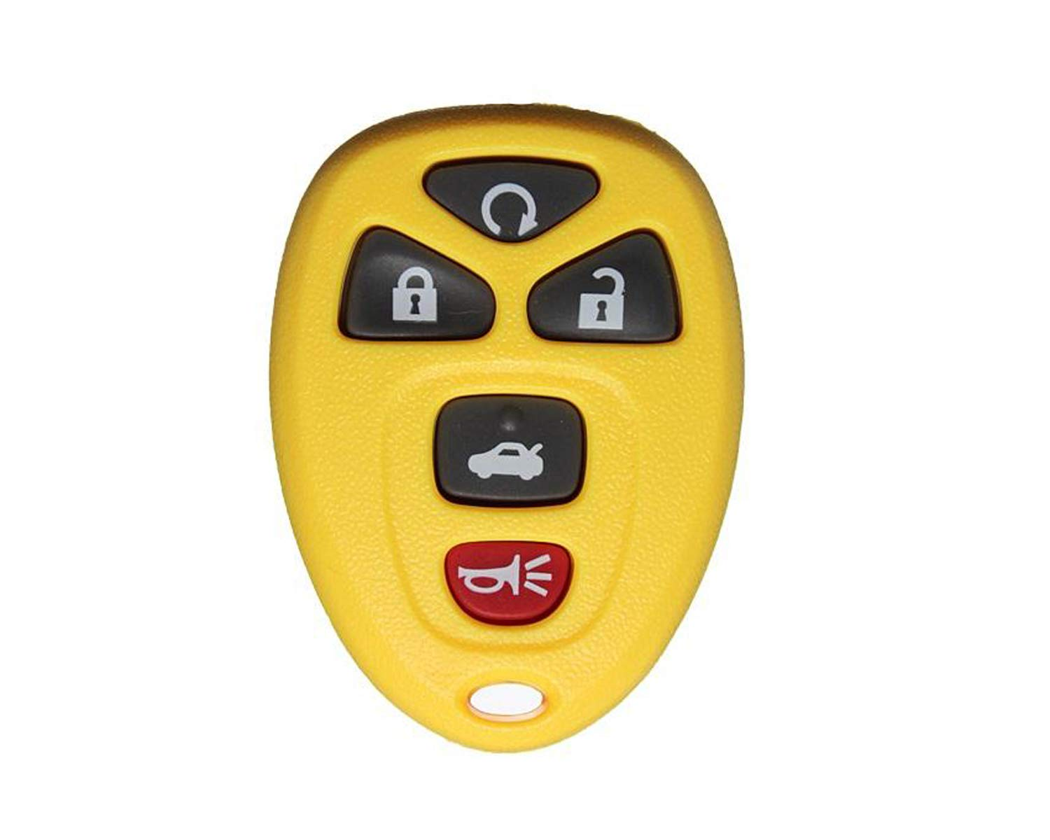 1 New Replacement YELLOW Keyless Entry 5 Button Remote Start Car Key Fobs for Select GM Chevrolet Buick Pontiac and Saturn Vehicles 22733524 CanadaAutomotiveSupply /©