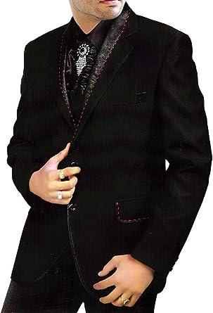 INMONARCH Mens Black Tuxedo Suit Royal Look Engagement 3 Pc TX274