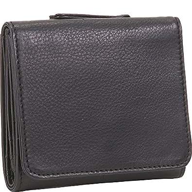 "Osgoode Marley Cashmere Ultra Mini Travel Wallet - 3.38"" x 4"" x 1"" - Leather - Black - Black"