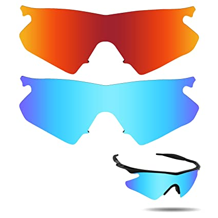 c4116f1a8fd Image Unavailable. Image not available for. Color  Fiskr Anti-Saltwater  Polarized Replacement Lenses for Oakley M Frame Heater Sunglasses 2 ...
