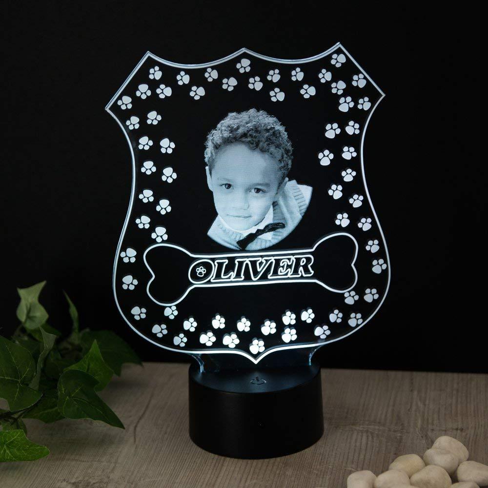 Paw Patrol Inspiriert Personalisierte Geschenk Foto Name Nachtlicht 16 Farben