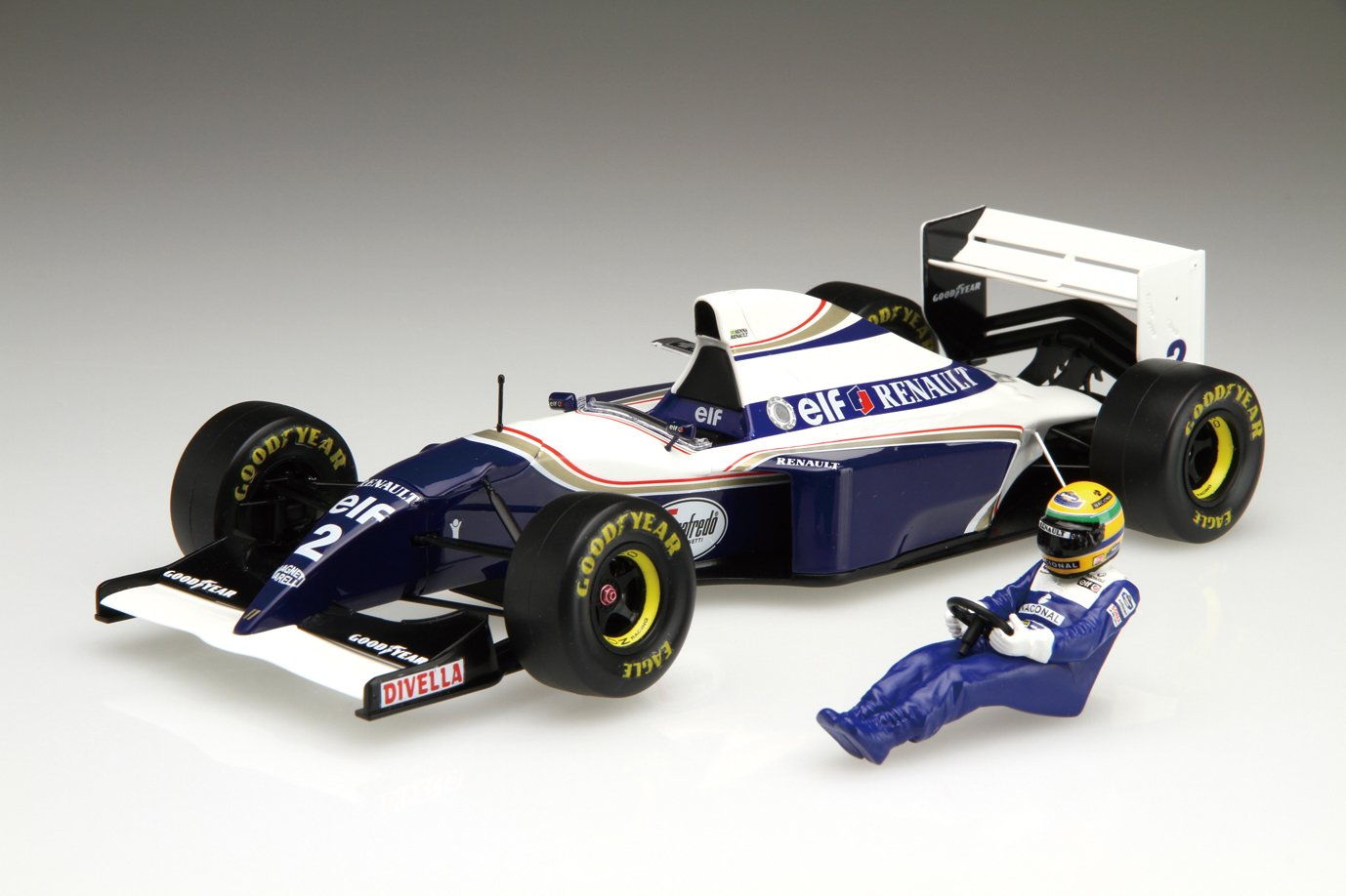 20. Grand-Prix-Serie SPOT No.39 Williams FW16 Brasilien GP Fahrer mit Bild