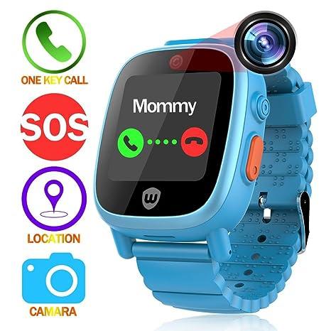 Seasaleshop Smartwatch para Niños Reloj Infantil Smartwatch para Niños Pulsera Inteligente Rastreador Niños Reloj de Pulsera