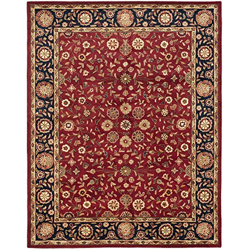 Safavieh Heritage Collection HG966A Handmade Traditional Oriental Red and Navy Wool Area Rug (9′ x 12′)