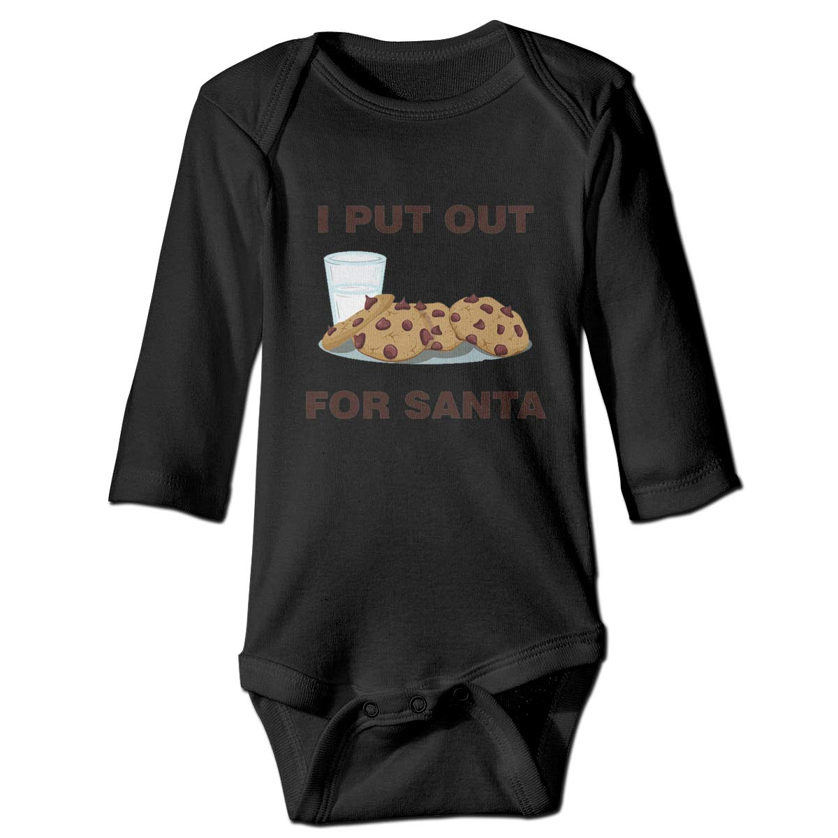 Cnfoldjfong I Put Out for Santa Long Sleeve Crawling Jumpsuit Rompers