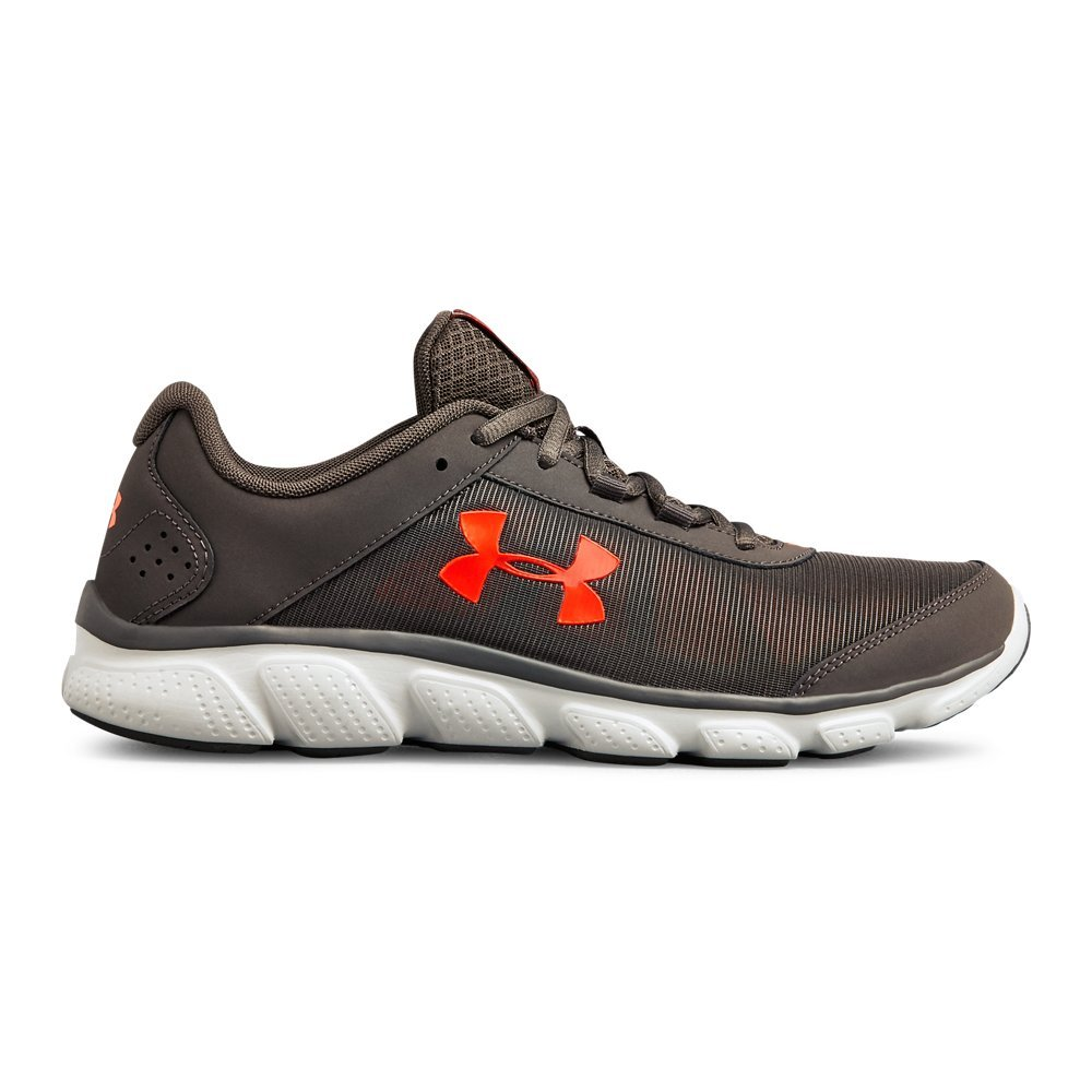 Under Armour Men's Micro G Assert 7 Running Shoe, Charcoal (102)/Radio Red, 11