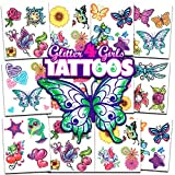 Crenstone Glitter Tattoos ~ 50 Dazzling Designs ~ Hearts, Butterflies, Flowers, and More!