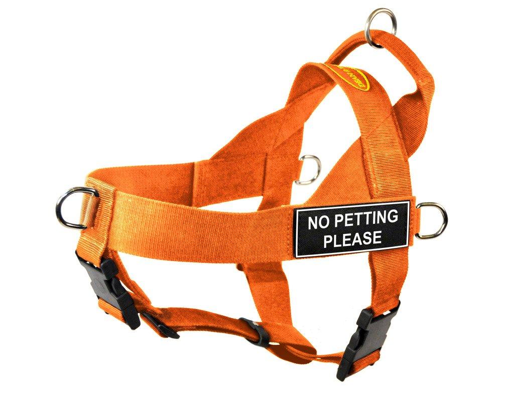orange Medium orange Medium Dean & Tyler DT Universal No Pull Dog Harness with No Petting Please Patches, orange, Medium