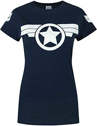 Mujeres - Marvel - Captain America - Camiseta: Amazon.es: Ropa y accesorios
