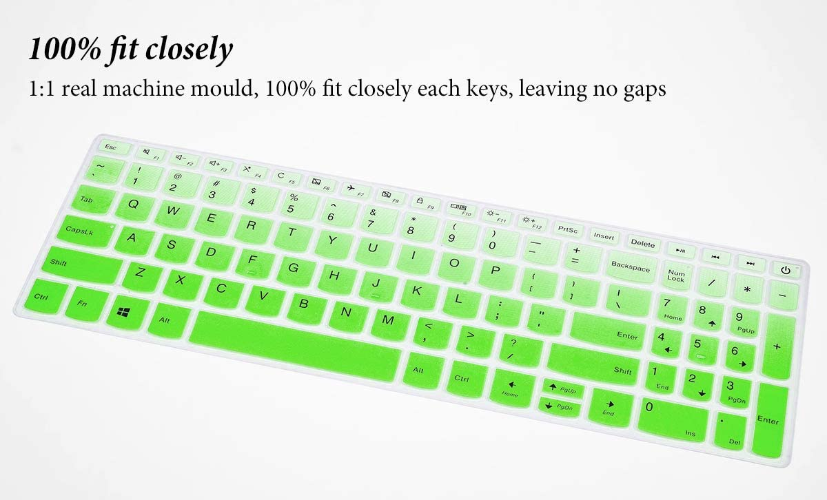 Keyboard Cover Compatible with 2019 2018 Lenovo IdeaPad 15.6 inch//Lenovo Ideapad S145 S340 L340 130 320 330 330s 340s 520 720s 15.6 inch//Lenovo V330 V130 15.6 inch//IdeaPad 320 330 17.3 inch Black