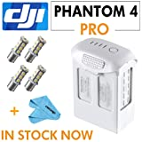DJI Phantom 4 Professional Phantom 4 Series - Intelligent Flight Battery (High Capacity) Part64+Cleaning Cloth+ 4x 1156 18-SMD White LED