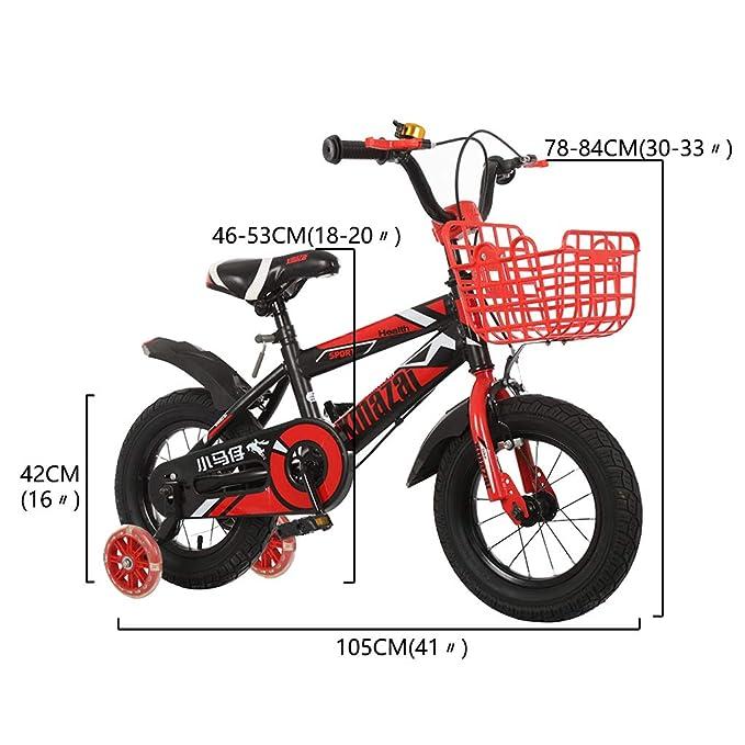 Bicicleta para niños de 2 a 13 años con Rueda de Asistencia Flash ...