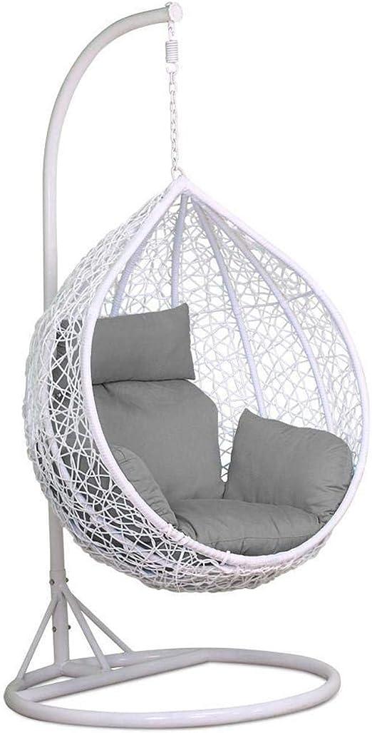 Harrier Silla Colgante para el Jardín – 2 Tamaños | Balancín Columpio Ideal para Usar al Interior o al Exterior – Asiento Cojines (Una Plaza, Marrón/Crema + Cubierta): Amazon.es: Jardín