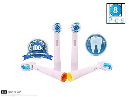 FLM Vitality Precision Clean EB17B - Cabezal de recambio para cepillo de dientes eléctrico compatibles con