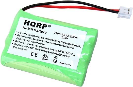 HQRP Batería Recargable para General Electric GE 5-2522/52522 VONAGE h-aaa550bx Teléfono inalámbrico + HQRP Posavasos: Amazon.es: Electrónica