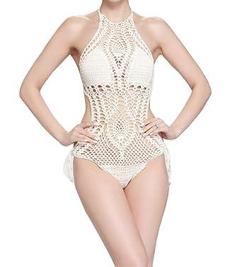 expédition de baisse esthétique de luxe Prix usine 2019 Maillots de Bain 1 pièce Maillot de Bain Bikini Dentelle Monokini Crochet  pour Femme