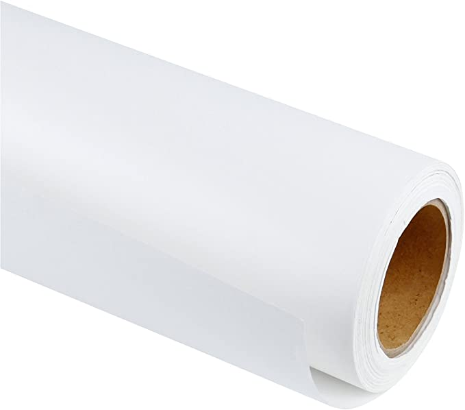 RUSPEPA Rollo De Papel Kraft Blanco - 91.4 Cm X 30 M - Papel Reciclado Perfecto Para Envoltura De Regalos, Artesanía, Empaque, Revestimiento De Pisos, Esclusa, Paquete, Mesa Corredor: Amazon.es: Oficina y papelería
