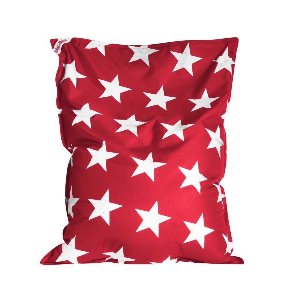Pharao24 Sitzkissen mit Sternen Rot Weiß