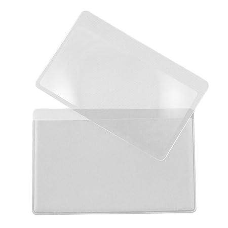 10pcs portátil bolsillo cartera de crédito tarjeta de tamaño lupa 3x Fresnel lectura Lupa lente