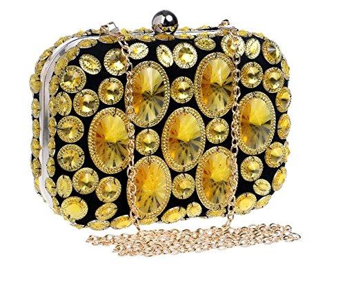 Sacs Perlé en chaîne Robe femmes Mariage Multicolore à Embrayage Soirée Sac Épaule pour gold main AB4Er8wAxq