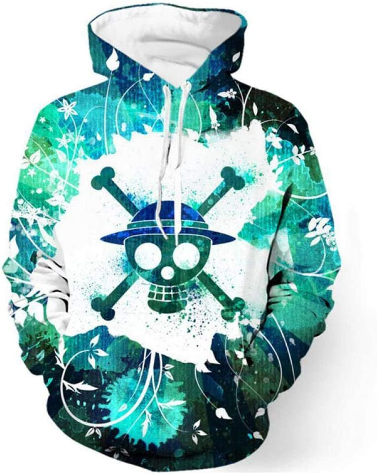 Hoodies Fashion 3D One Piece Anime Hoodies Men Pullovers Women Hooded Casual Long Sleeve 3D Print Sweatshirts