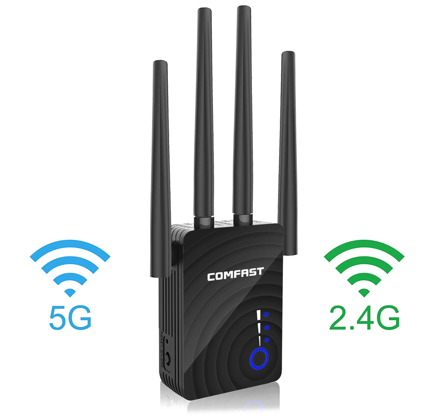 1200Mbps Dual-Band WiFi Range Extender, 2.4GHz & 5GHz WiFi Repeater, Wireless Signal Booster with Router/AP/Repeater Mode / 4 Ethernet Antennas by UTOPB