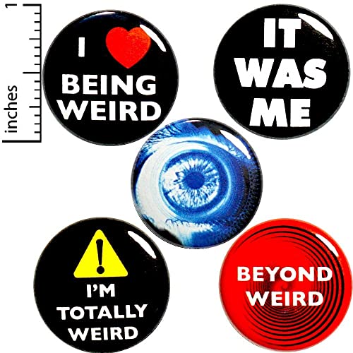 Amazon com: Weird Buttons 5 Pack Backpack Pins Funny