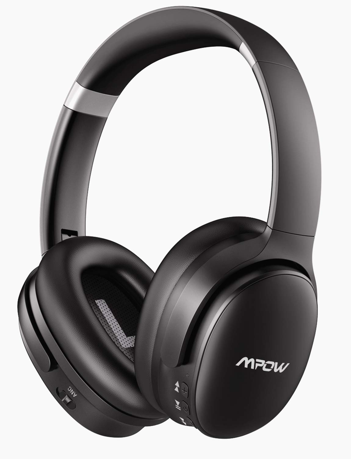 Mpow H10 Dual-Mic Noise Cancelling Bluetooth Headphones, [2019 Edition] ANC Over-Ear Wireless Headphones with CVC 6.0 Microphone, Hi-Fi Deep Bass, 30Hrs Playtime for TV/PC/Phone/Travel/Work by Mpow
