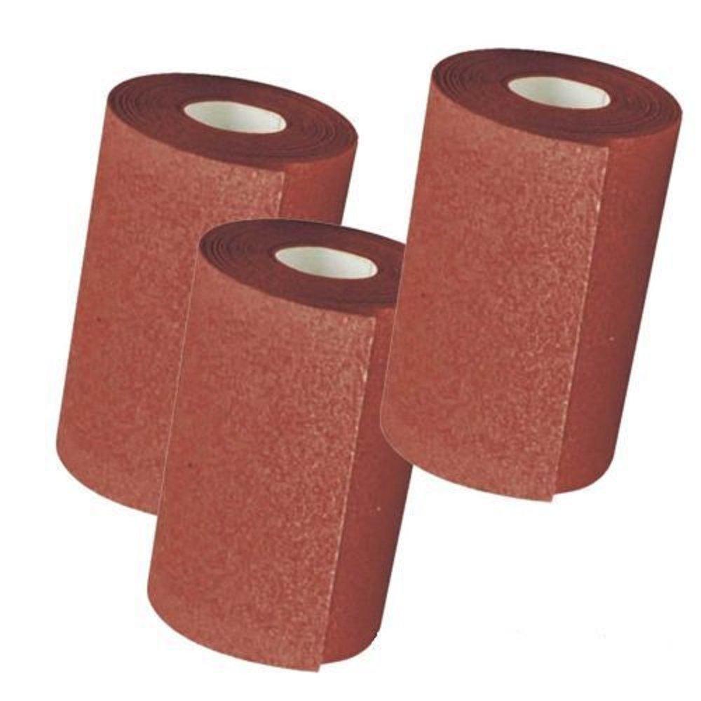 3 x 5m x 115mm(4 1/2') Decorators Sand Paper Sandpaper Rolls Assorted Mixed Grit Grade Silverline