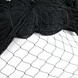Smartxchoices 25' X 50' Net Netting For Bird Poultry Avaiary Game Pens New (Black)